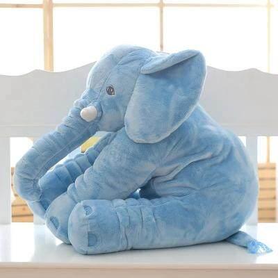 Koyshops-018 ตุ๊กตาหมอนผ้าห่ม ช้างน้อย สีฟ้า.