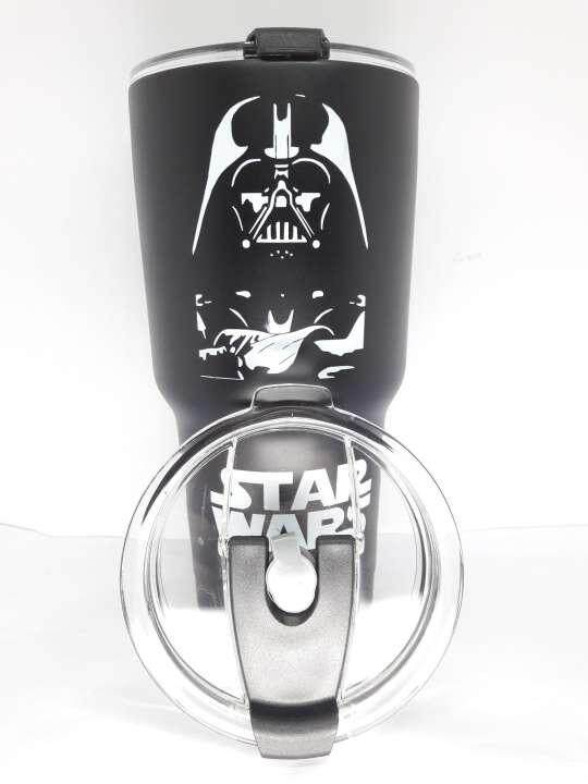 แก้วเก็บความเย็น ขนาด 30 oz ลาย star war (สีดำ)