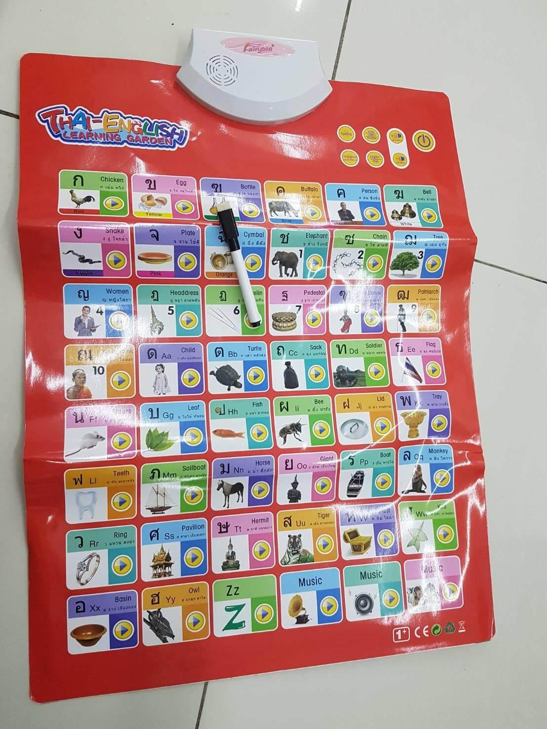 Fairybie กระดานเรียนภาษาไทย-อังกฤษ ระบบสัมผัส หนังสือเรียนอิเลคโทรนิคส์ เรียนรุ้ อ่าน เขียนไทย-อังกฤษ จดจำ ออกเสียง พร้อมเสียงเพลง พร้อมกระดานฝึกเขียนตัวหนังสือ ช่วยให้เการเรียนรู้มีชีวิตชีวา เหมาะสำหรับเด็ก3 ขวบขึ้นไป Bs-29.