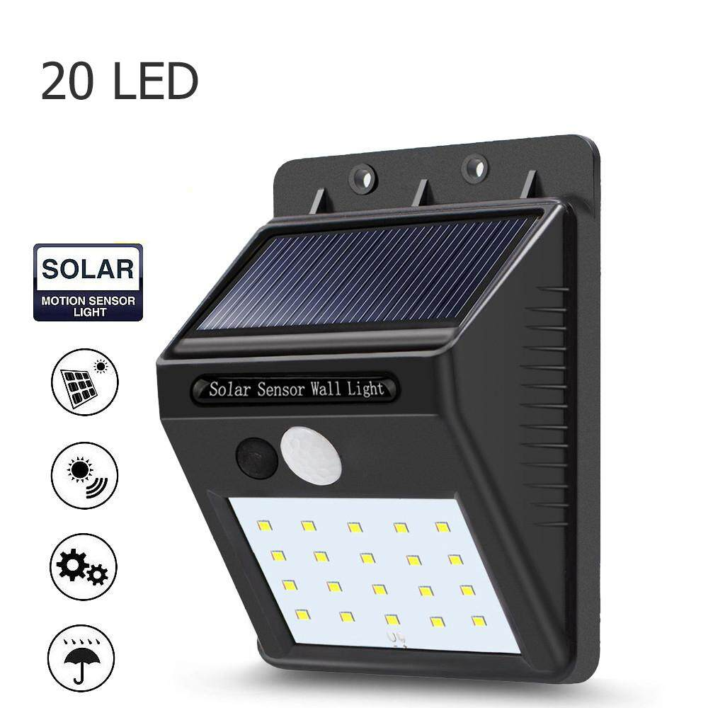 Bkk Lighting ไฟติดผนังโซล่าเซลล์พลังงานแสงอาทิตย์ 20 Led 1 ชิ้น Solar Powered Motion Sensor Light.
