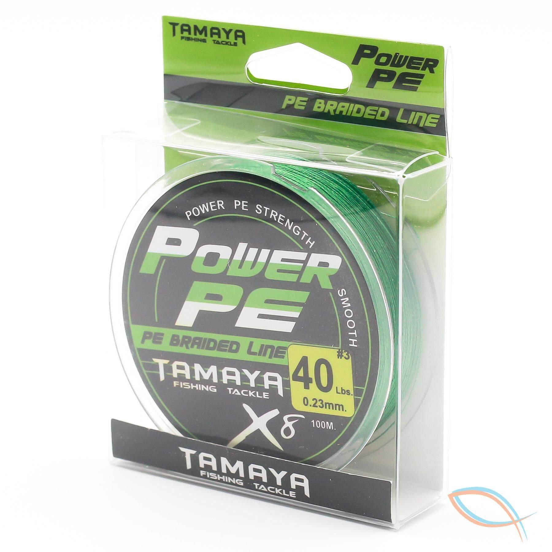 ตกปลาชะโด ต้องสายพีอี 3 ของ Tamaya รุ่น Power Pex8 40 Lb. สีเขียว หน้าตัด 0.23 Mm. ความยาว 100 เมตร.