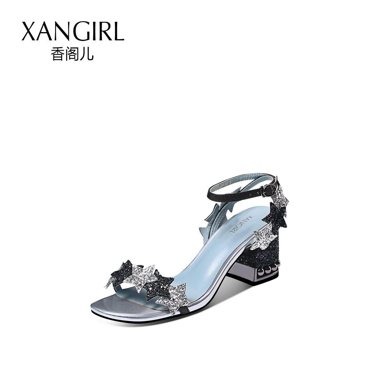 bloc de xangirl sandales nouveau style cool avec avec cool talon haut conception simple star embelli les escarpins hauts talons chaussures femmes 8f57f9