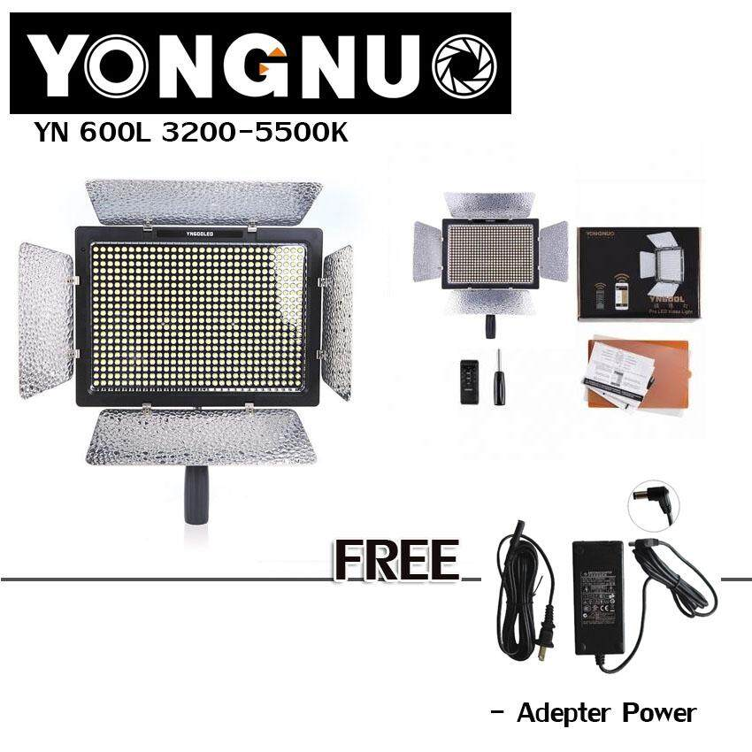 Yongnuo Yn600l ไฟต่อเนื่อง Led 3200-5500k Light ใช้สำหรับงานถ่ายภาพ ถ่ายวีดีโอ ไฟติดหัวกล้อง แถมฟรี! Adepter X1 By S&p Fortune Town.