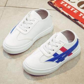 ... putih kecil 2018 model baru musim semi dan musim gugur Gaya Korea modis anak prempuan putih sepatu sneaker Sepatu casual anak laki-laki sepatu olahraga ...