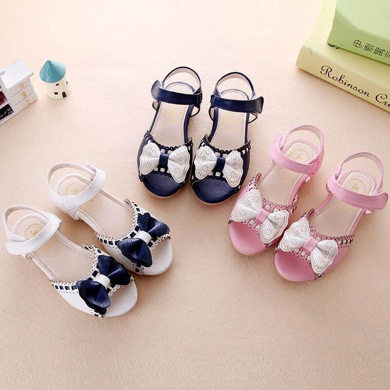 Girl Open Toe Sandals 2018 New Children's Sandals Summer Kids Sandals Cute Butter Tie Design Princess