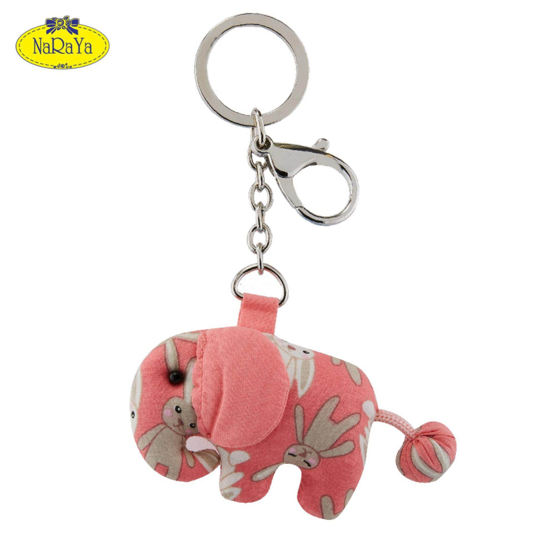 พวงกุญแจ Naraya Bunny Printed Elephant With Hook .
