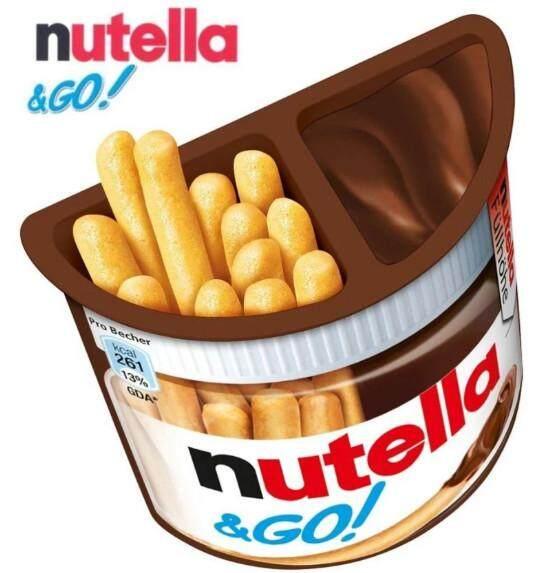 Nutella &go บิสกิตจิ้มช็อกโกแลตร สชาติอร่อย ตัวช็อกโกแลต 32 G (1 กล่อง ).