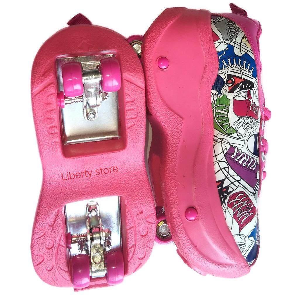 ซื้อ Junior G*rl Skate Shoes Roller รองเท้าสเก็ต ลูกกลิ้ง ถูก