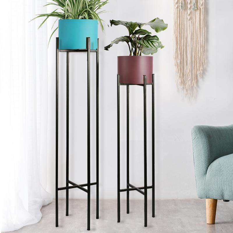 Nordic Metal Color Potted Plant Meat Plant Flowerpot Landing Stainless Steel IKEA Iron Art Vase Dried Flower Decoration