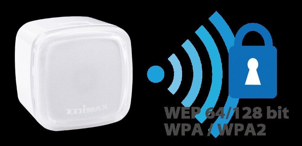 Edimax N300 Smart Wi-Fi Extender with EdiRange App EW-7438RPn_Air_Wi-Fi_Security_WEP_WPA_WPA2.png