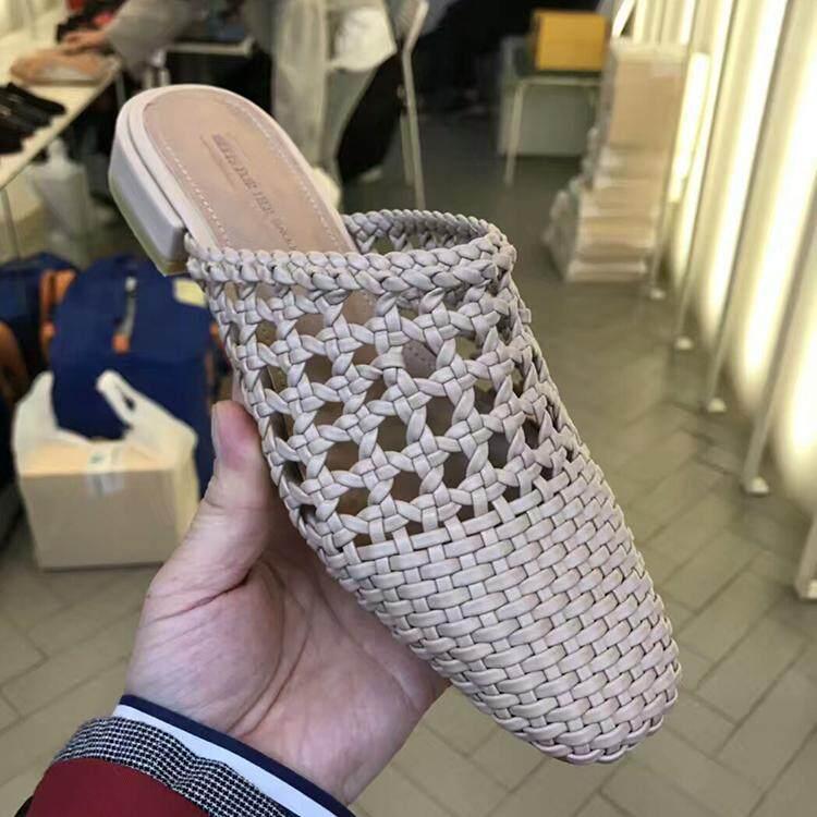Muller Sepatu Hak Perempuan Sepatu Sandal Modis Baru Model Bulat Berongga b75cf3cb58