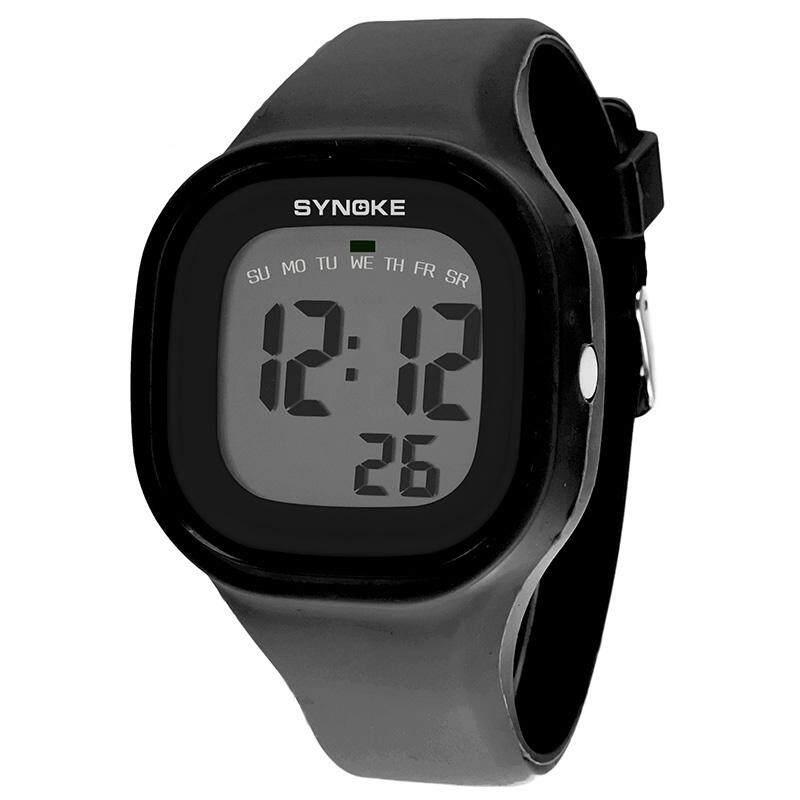 SYNOKE Brand Watch Waterproof Fashion Sports LED Digital-watch Geneva Silicone Jelly Children Digital Watches