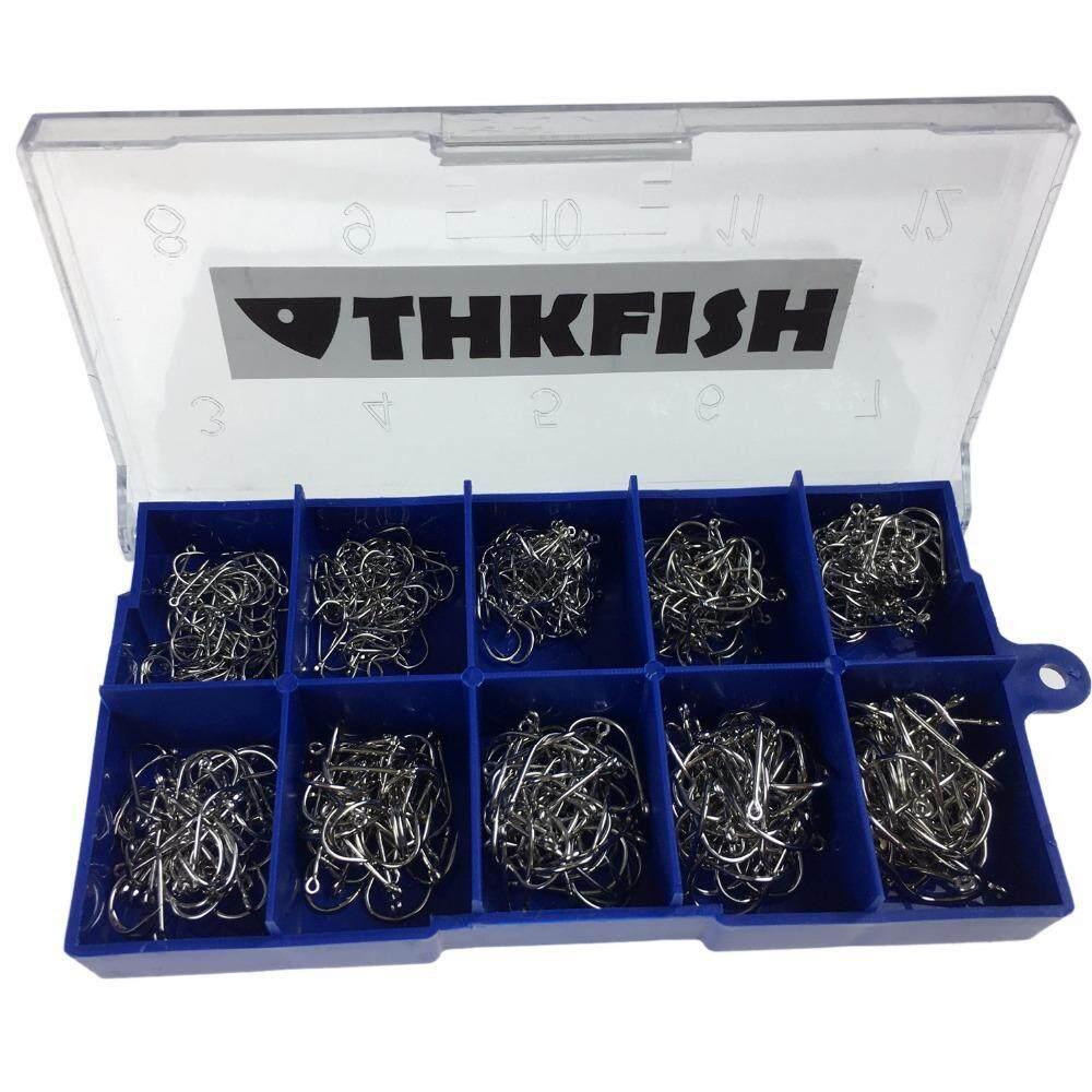 500 ชิ้น 3-12 เบ็ดตกปลา Silver Black Gold Fishhooks ตะขอชุดปลาคาร์พตะขอตกปลา.