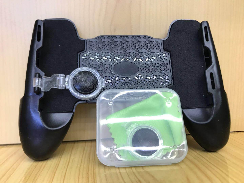 !!!❤3in1 Pubg ปุ่มjoy Rov จอย Rov แบบ พับ เปิด-ปิด ได้ +mobile Joypad จอยเกมส์มือถือ มาใหม่ล่าสุดครับของแท้ จอยถือด้ามจับเล่นเกมสำหรับมือถือ พร้อมจอย Rov (black/สีดำ)/จอยถือด้านจับ จอยrov Ros Joystick Joypad Jl-01❤.