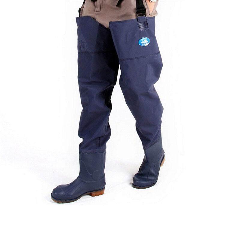 รองเท้าบูทกันน้ำ ขายาว สีน้ำเงิน ขนาดเท้าเบอร์ 44.