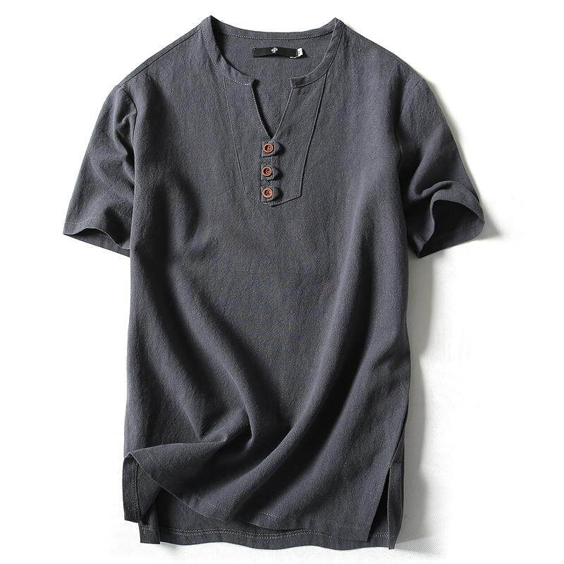 e3b95ba94 💥 Mens Linen Short Sleeves Top By Taobao Collection Best Prices ...