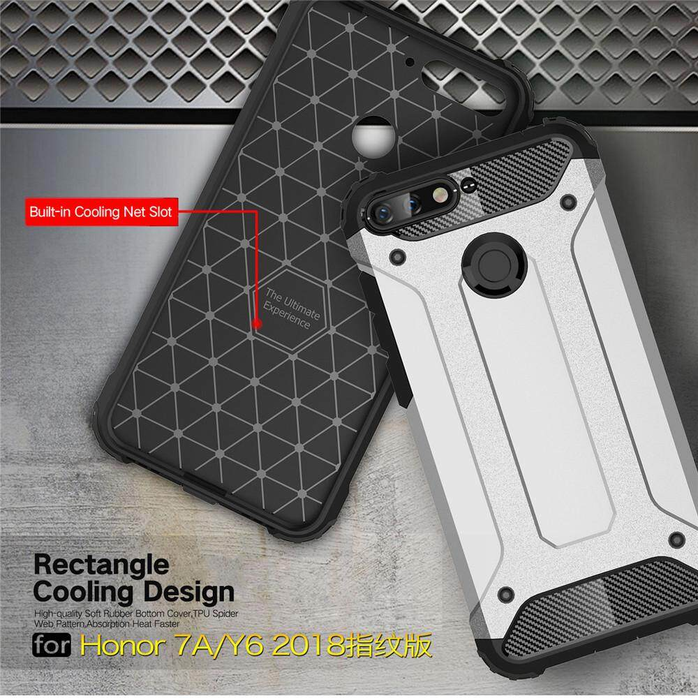 Detail Gambar Lenuo Case for Huawei Y6 2018 Hybrid Shell Armor Rugged TPU + Hard Plastic Anti-knock Shockproof Back Cover for Huawei Honor 7A Terbaru