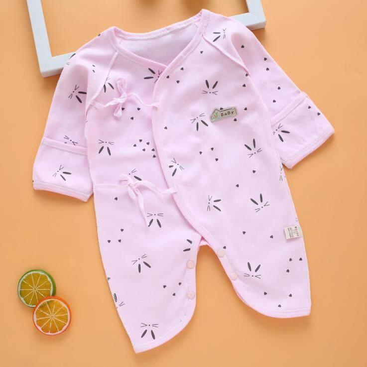 Body Suit เด็กแรกเกิด 0-3 เดือน ผูกหน้าผ้าคอตตอน (พร้อมส่งทันที) As163.