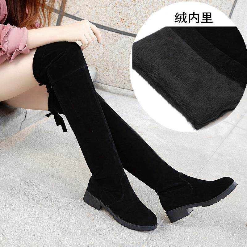 a73c4b0d28b3 2018 Autumn   Winter New Style Korean Style Versatile Slimming Flat Boots  women Shoes over-