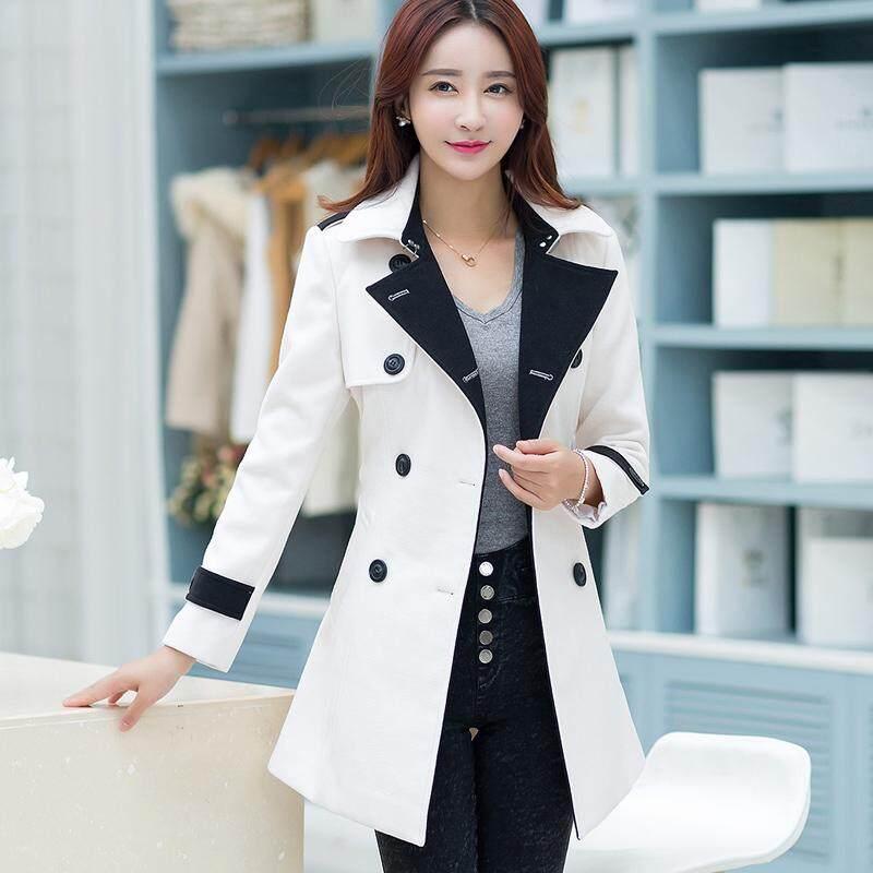 Pagar Wanita Jaket Parka Korea Fashion Style Wol Musim Gugur dan Musim Dingin Baru