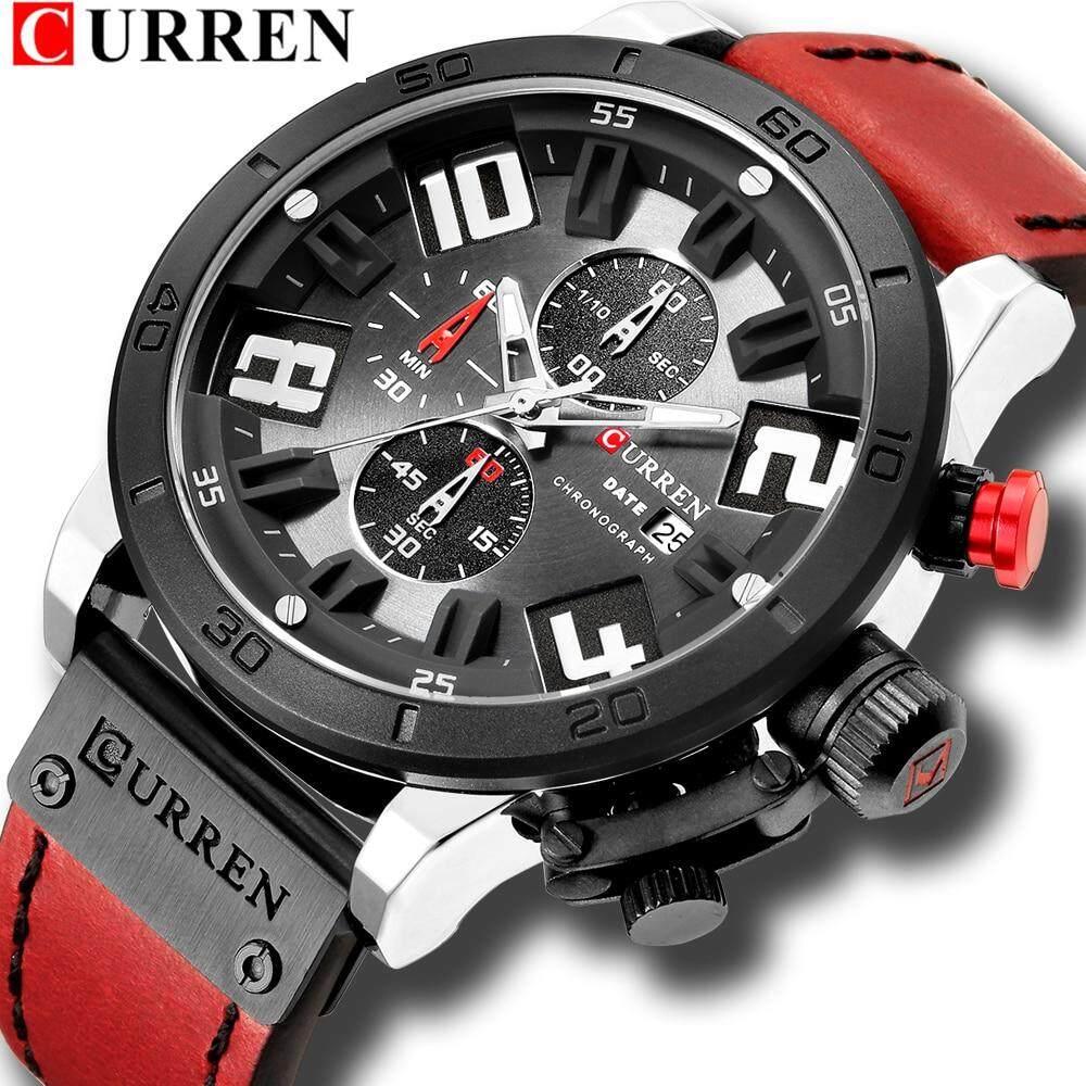 Curren 8312 MenWatcheLuxury Gold Male Watch Men Fashion Leather Strap Sport Quartz Watch Outdoor Casual Wristwatch Malaysia