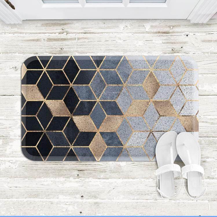 Nordic Minimalist Geometry INS Wire Ring Mat Entrance Doormat Kitchen Anti-slip Door Mat Sub-Household Doorway Rub Soil