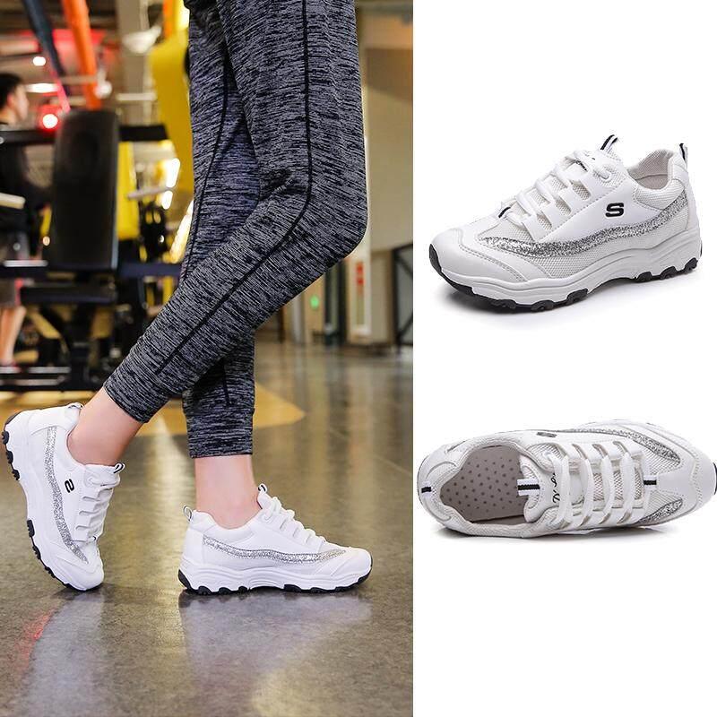 Sepatu wanita 2018 model baru Gaya Harajuku bf OLdPAPA Sepatu dalam sepatu  olahraga perempuan yang super 1fa37e54b5