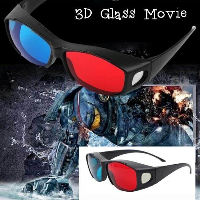 แว่นสามมิติ 3d Glasses แดงน้ำเงิน ดู เกม ภาพยนตร์ 3d Youtube.