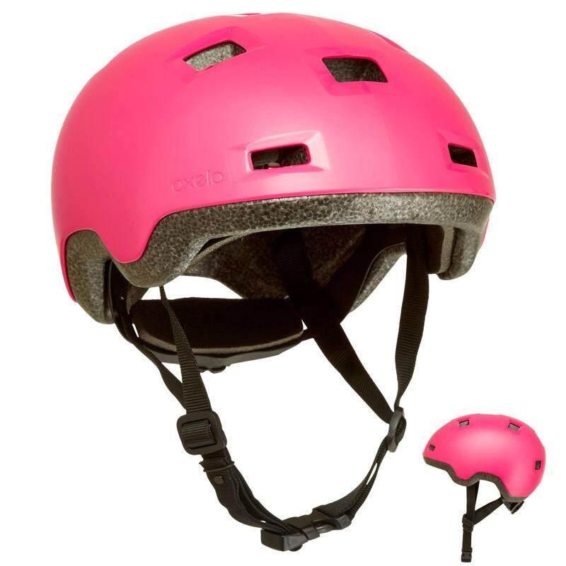 Oxelo หมวกกันน็อคเด็ก ตั้งแต่4-10ขวบ สำหรับเล่นสเก็ต สเก็ตบอร์ด สกู๊ตเตอร์ และจักรยาน รุ่น B100 (สีชมพู).