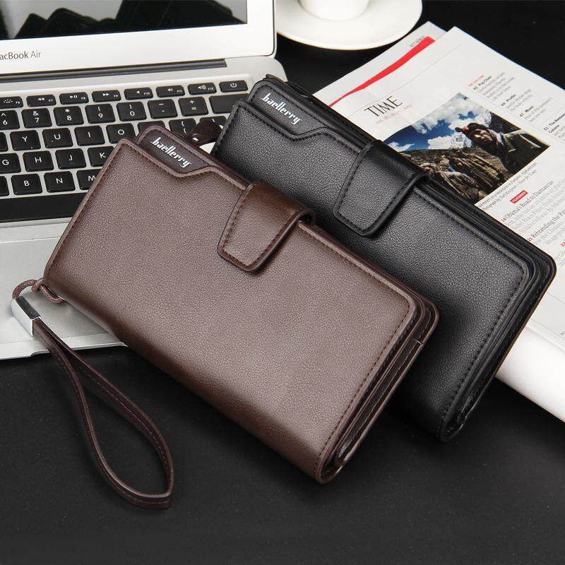 XZXBBAG Men Fashion Short Wallets Vintage Money Clips Male PU Leather Thin Purse Casual Money Clips Card Pack Clutch Wallet - intl₱1,061.98