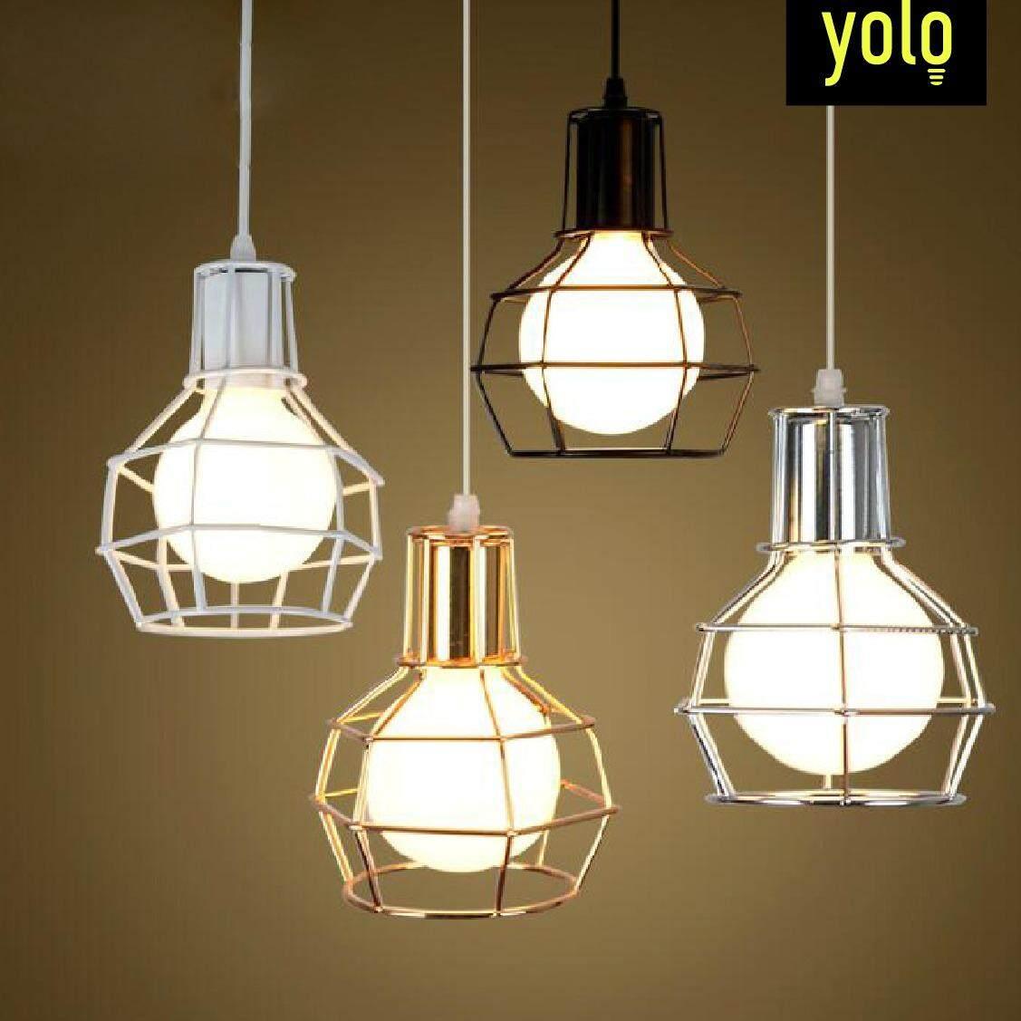 Yolo โคมไฟแขวนเพดาน สไตล์วินเทจ ลอฟท์