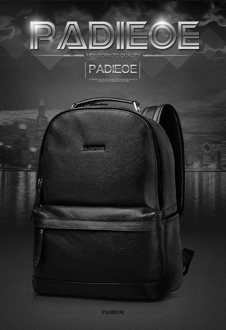 aac90b82fe Padieoe New Designer Korean Style Male Backpack Luxury Brand Black ...