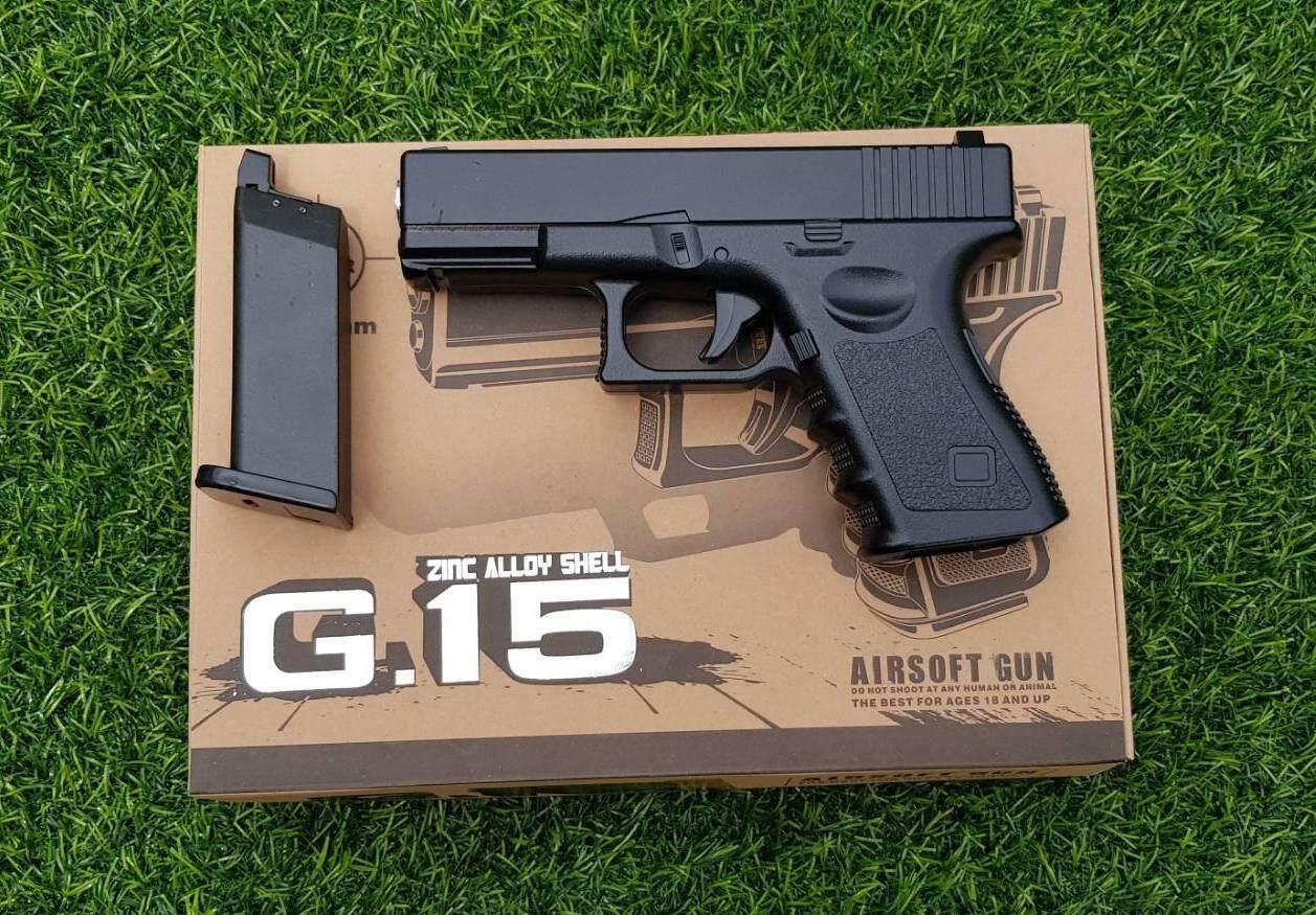 ปืนสั้นสปริง G.15 เลียนแบบ Glock 19.