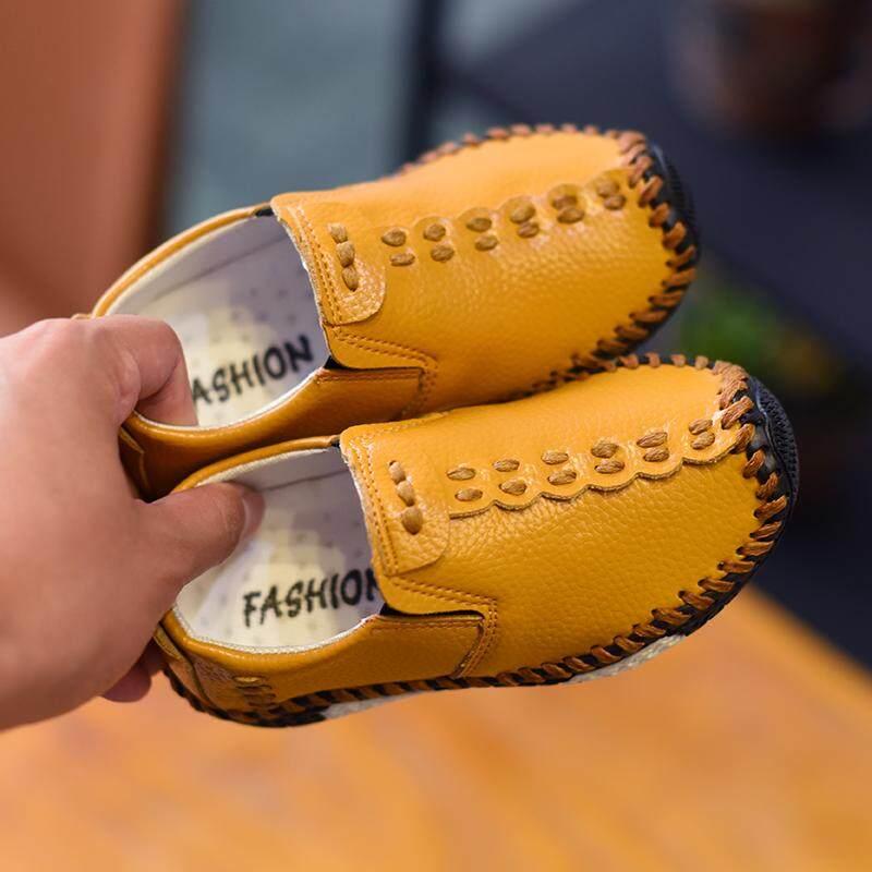 Anak Laki-Laki Kecil Korea Fashion Style Musim Semi Dan Musim Gugur Anak Laki-laki Pijakan Empuk Sepatu Kulit