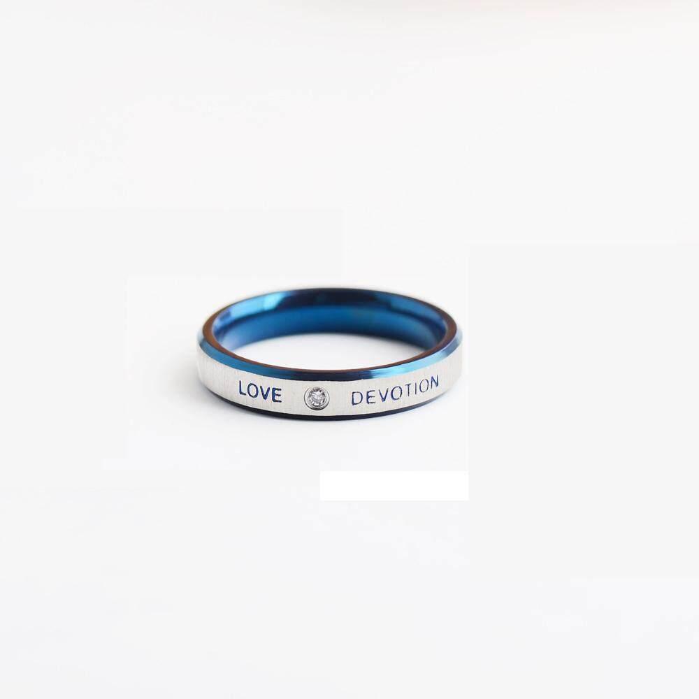 Đôi Mắt xanh Nam/nhẫn nữ xanh dương trang sức Titan cặp đôi TÌNH YÊU