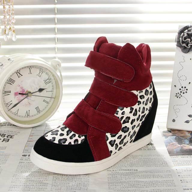 2016 versi Korea baru dari sepatu pasang di Velcro meningkatkan womens tunggal sepatu wanita tinggi pabrik langsung Merah