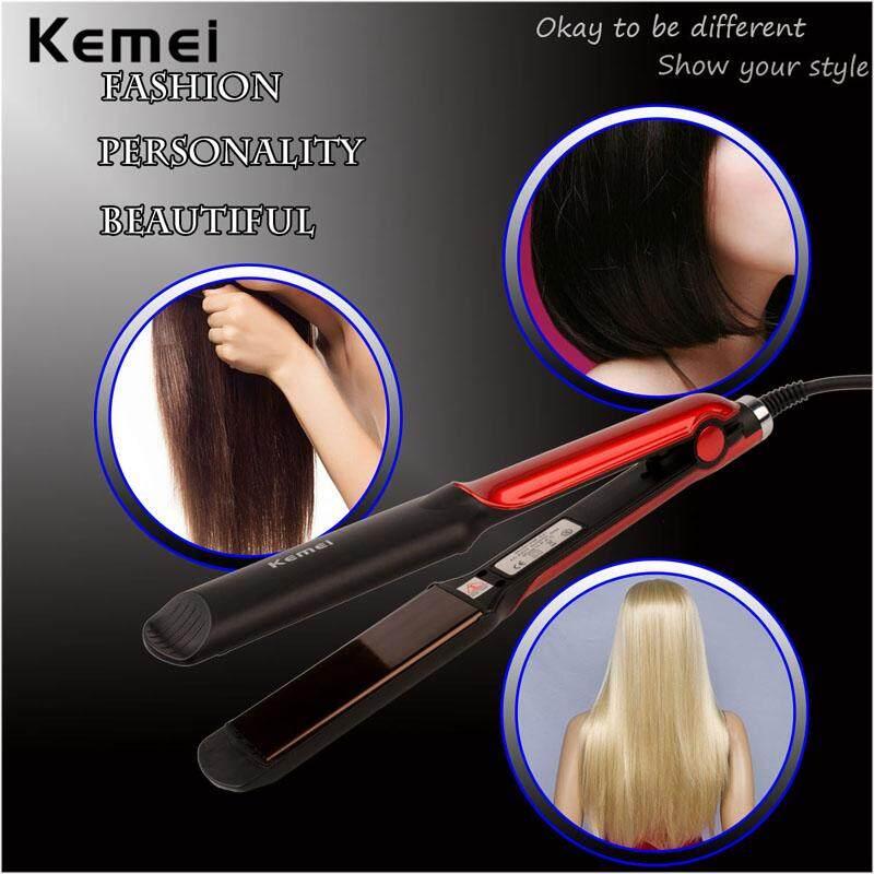 Kemei Professional Ceramic Hair Straightener KM-531 ที่หนีบผม เครื่องหนีบผม ทำผมตรงหรือเป็นลอน เครื่องม้วนผม ที่ม้วนผม ผมตรงสวยเป็นธรรมชาติ ร้อนเร็ว 160°C - 220°C ควบคุมอุณหภูมิได้ เคลือบเซรามิก ถนอมเส้นผม เครื่องหนีบผมไฟฟ้า ม้วนผมลอน image