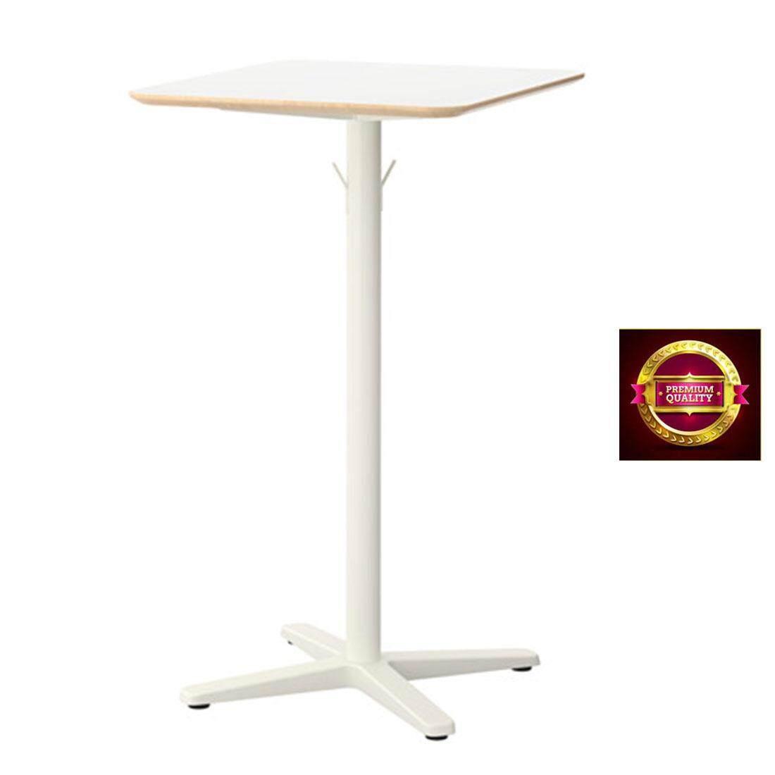 โต๊ะบาร์เมลามีน ทนความร้อนและรอยขีดข่วนได้ดี สีขาว 70x60 Cm By Home Decor By King.