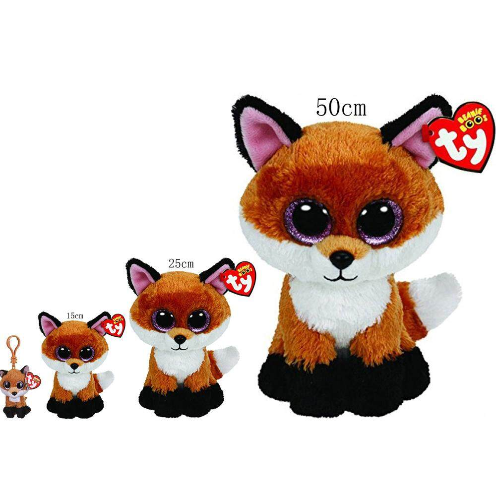 4fd031e44b6 Ty Beanie Boos Slick Brown Fox Plush Set of 4 Sizes 10cm 15cm 25cm 50cm  Small