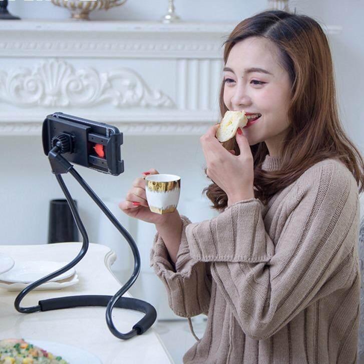 ที่หนีบโทรศัพท์แบบคล้องคอ ที่หนีบสมาร์โฟน ขาหนีบโทรศัพท์แบบคล้องคอ 2018 Lazy Hanging Neck Phone Stands Necklace Cellphone Support Bracket For Samsung Universal Holder For Iphone.