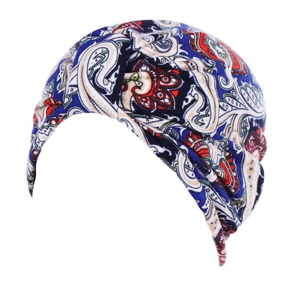 Wanita Muslim Stretch Turban Topi Kemo Cap Rambut Rontok Syal Kepala Topi  Lilit Fashion b76bb3223c