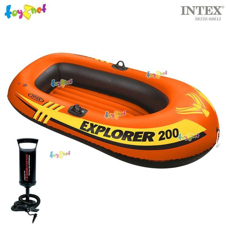 Intex เรือยางเอ็กซ์โพลเรอร์ 2 ที่นั่ง 1.85x0.94x0.41 ม. รุ่น 58330 + ที่สูบลมดับเบิ้ลควิ๊ก วัน
