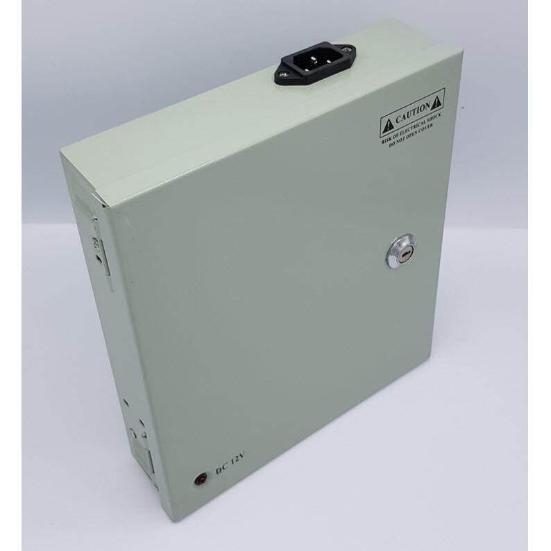 ตู้จ่ายไฟ DC12V 10A 120W Switching Power Supply สำหรับกล้องวงจรปิด 9 ตัว