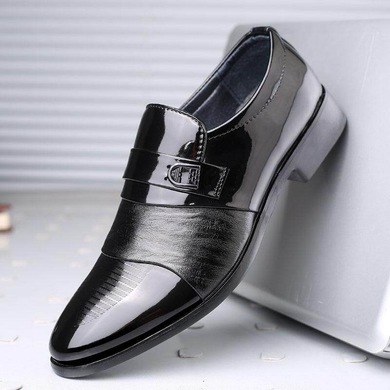 Yuzi Merek mewah Kulit Fashion Pria Bisnis Berpakaian Sepatu Runcing Hitam Sepatu Oxford Bernapas Sepatu Pengantin Formal