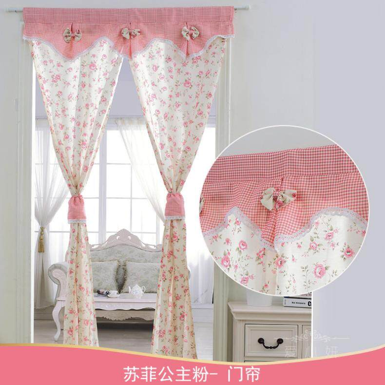 Send Rod Door Curtain Fabric Bedroom Half Curtain fang wen bu Curtain Kitchen Living Room Fitting Room Bathroom Door Curtain Partition