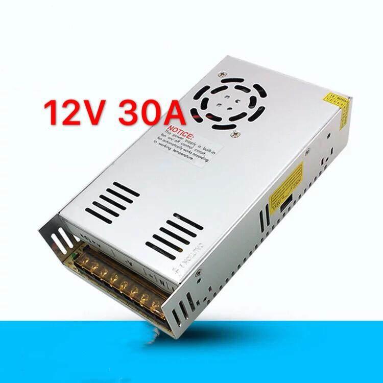 กล่องรวมไฟ Cctv (แบบรังผึ้ง) 9 ช่อง 12v 30a 360 Watt สำหรับกล้องวงจรปิด และไฟ Led ไม่ต้องใช้ อแดปเตอร์ Switching Power Supply.