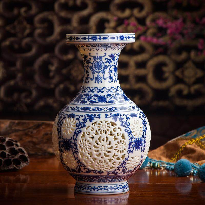 Chinese-style Ceramic Cut-out Vase