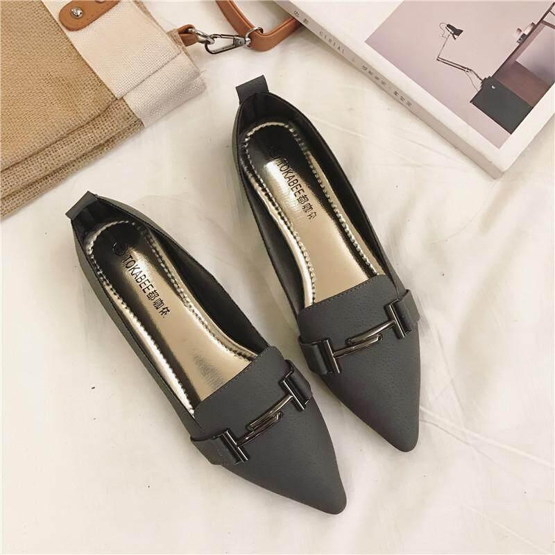 2018 musim gugur model baru sepatu lapisan tunggal wanita Sepatu Sol Datar  Hak Datar Pijakan empuk 9f1aa95659