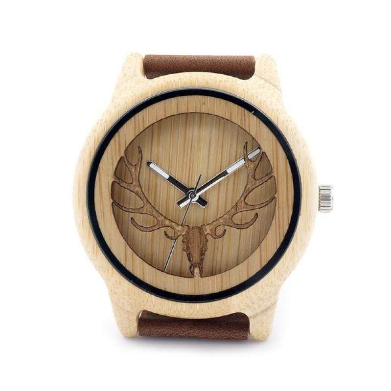 Handmade wooden fashion design personalized wooden watch casual style special offer bobo bird leather strap software wood wood table-A27 Malaysia