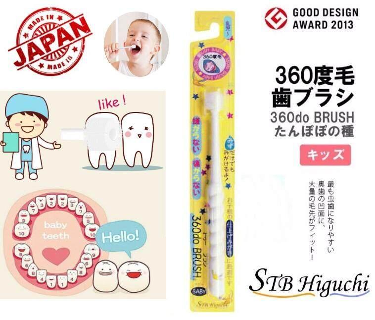 แปรงสีฟันเด็กจากประเทศญี่ปุ่น แปรงสีฟัน360องศา ปราศจากสารbpa100%.